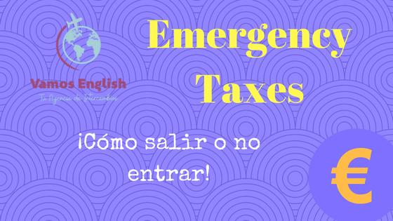 Impuestos de emergencia